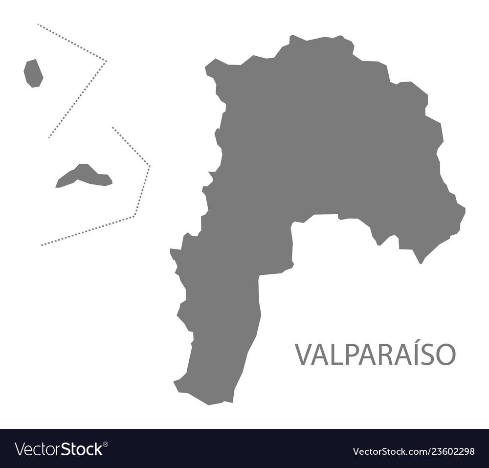 Valparaiso chile map grey