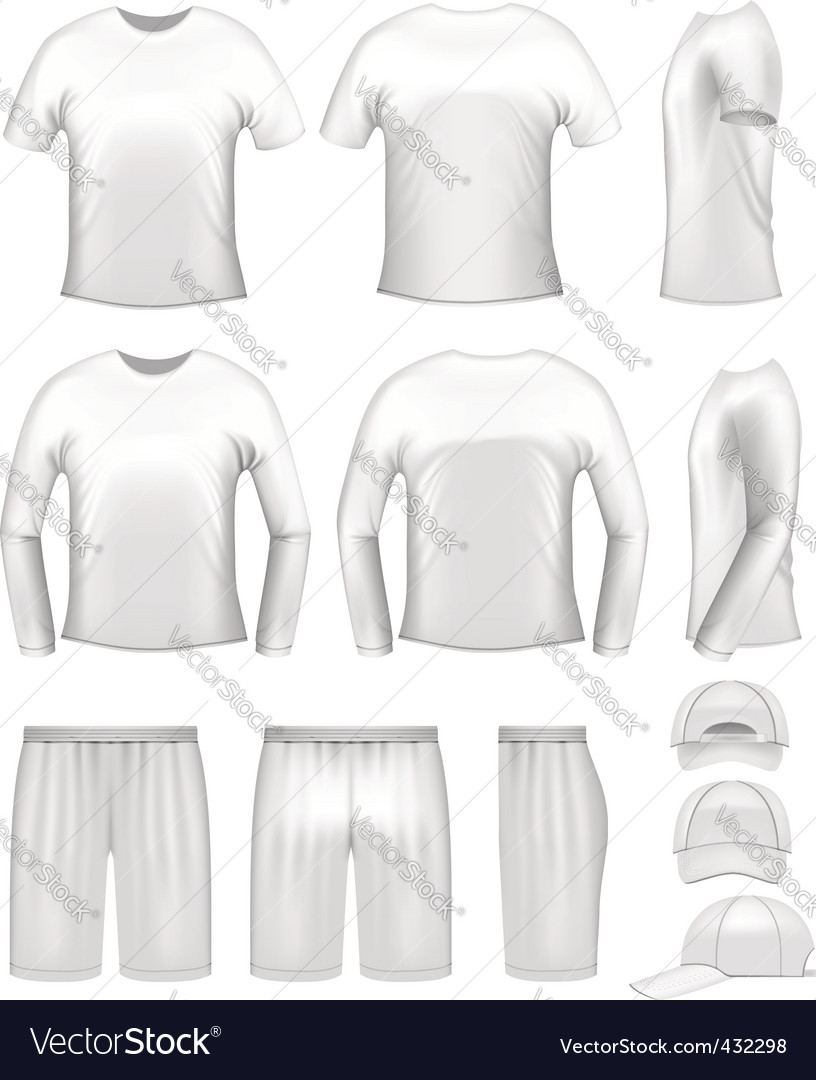 White men's clothing set vector image