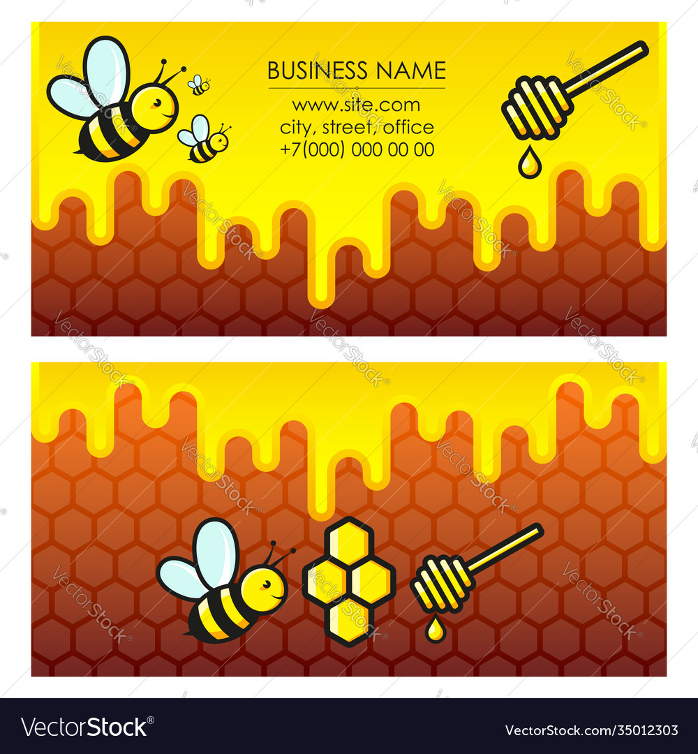 Bees and honey business card