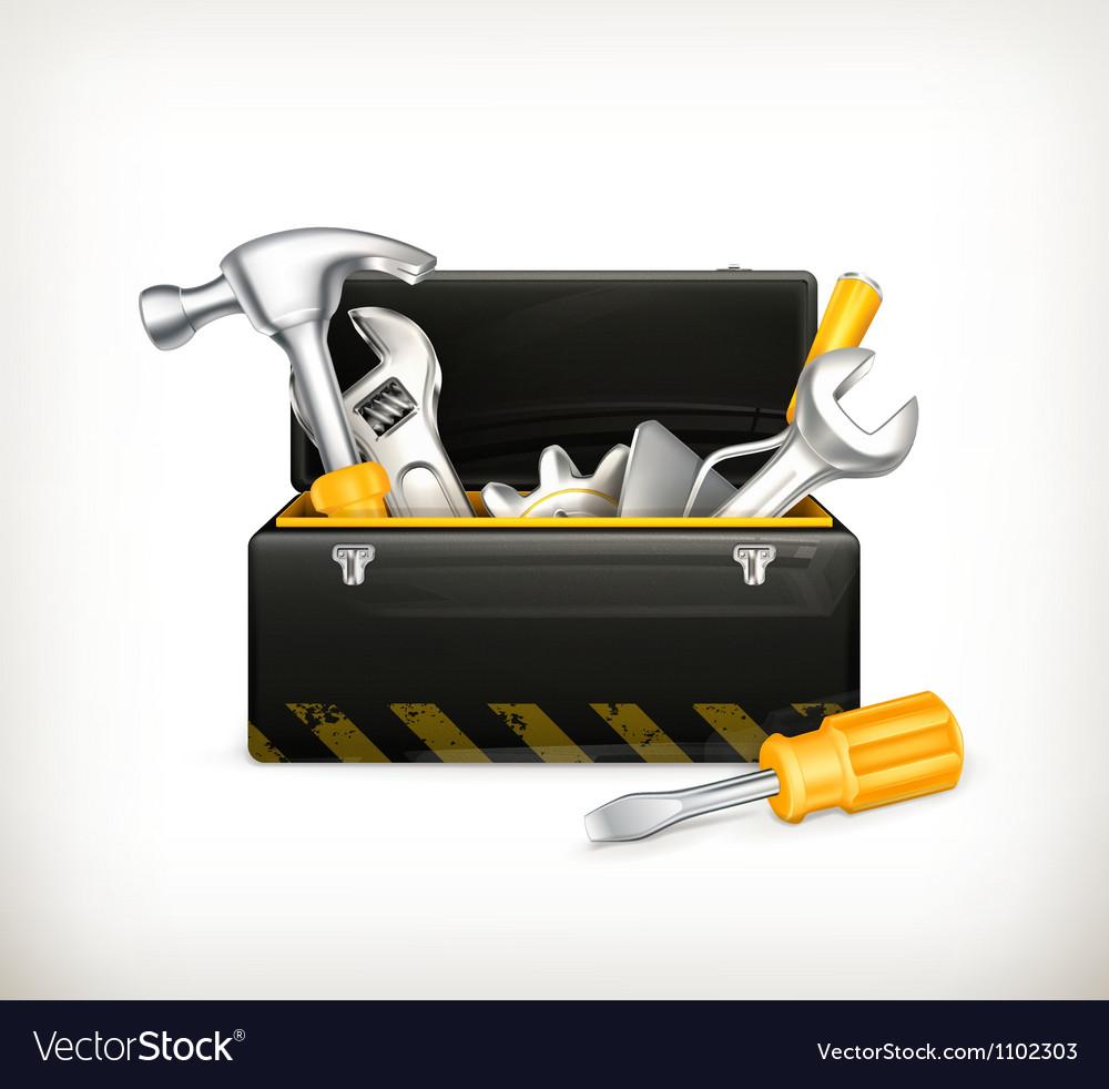 Black toolbox vector image