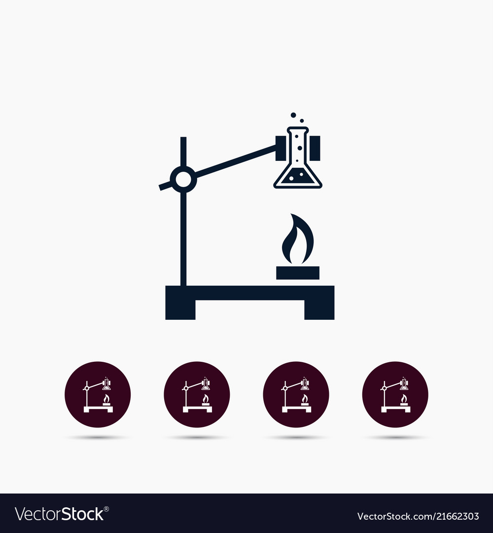 Chemistry icon simple chemical element school