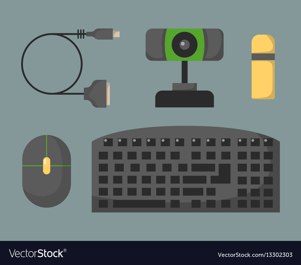 Computer keyboard flat icon alphabet device