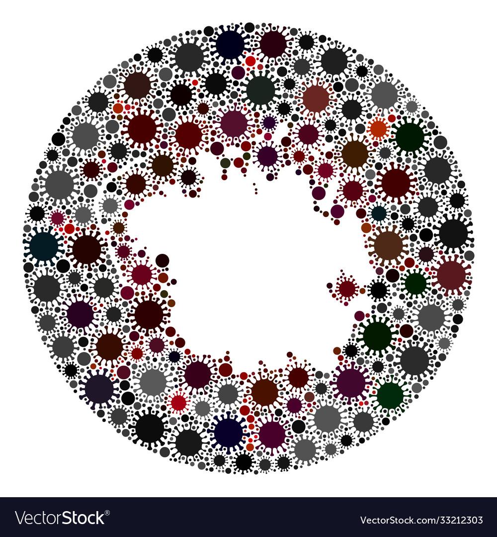 Covid19 virus hole circle micronesia island map
