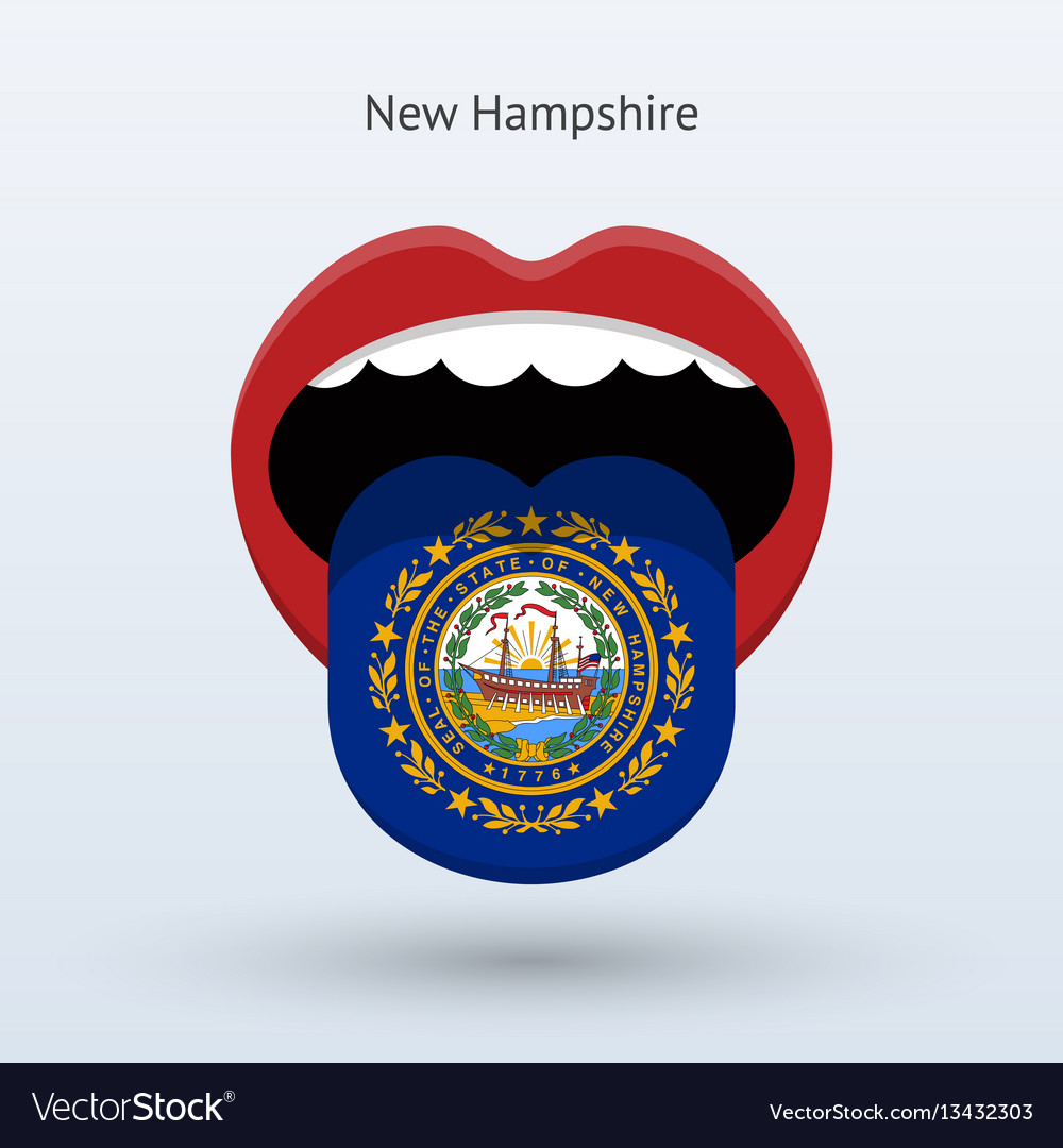Electoral vote of new hampshire abstract mouth