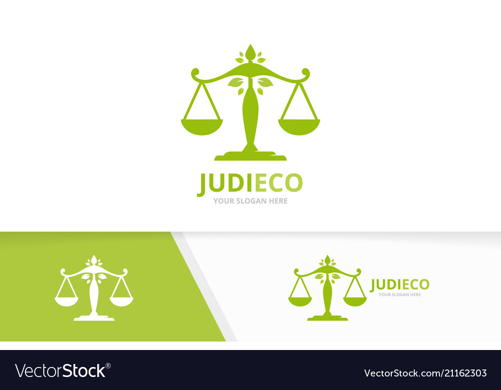 Libra and leaf logo combination scales and