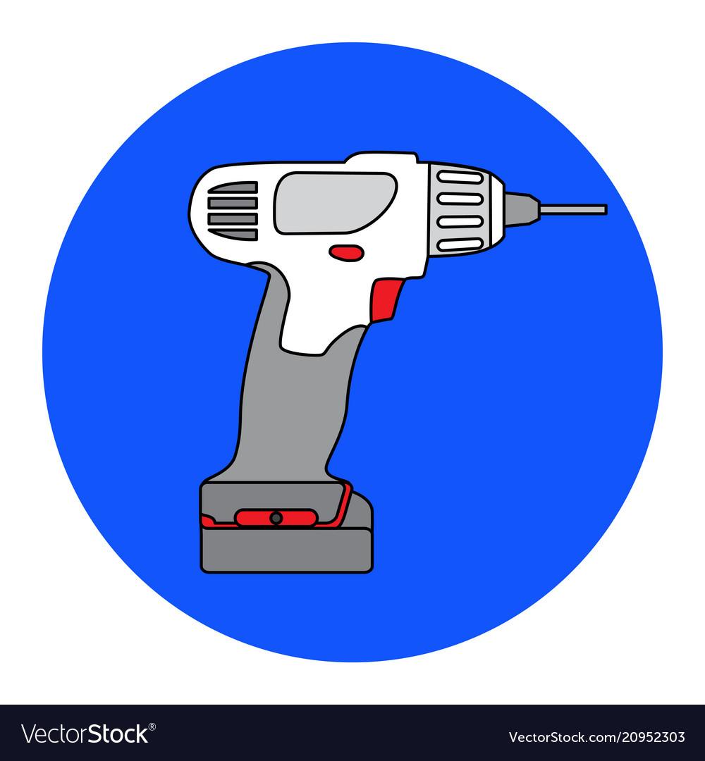 Screw gun icon impact wrench or screwgun