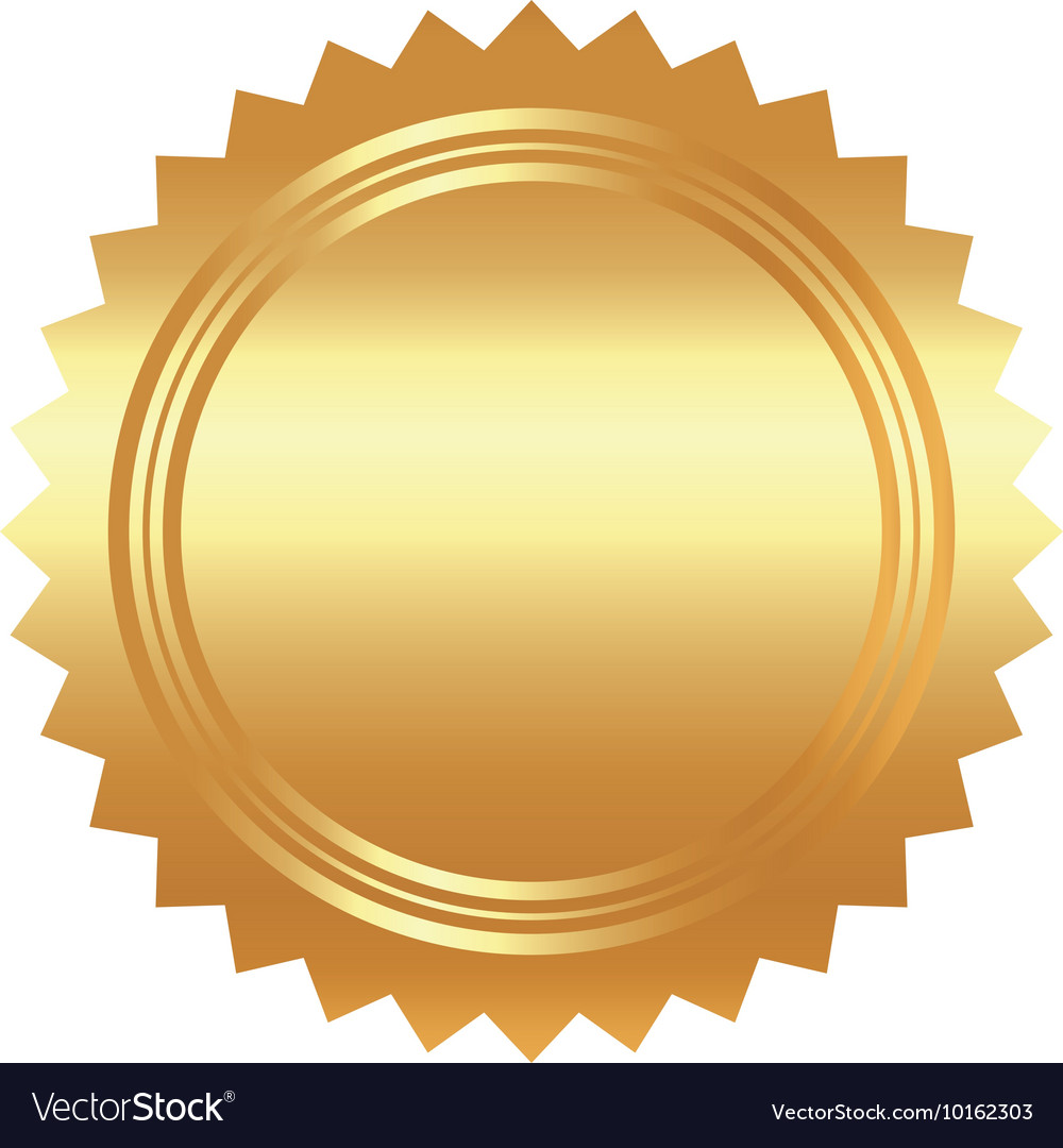 Seal stamp gold luxury elegant con