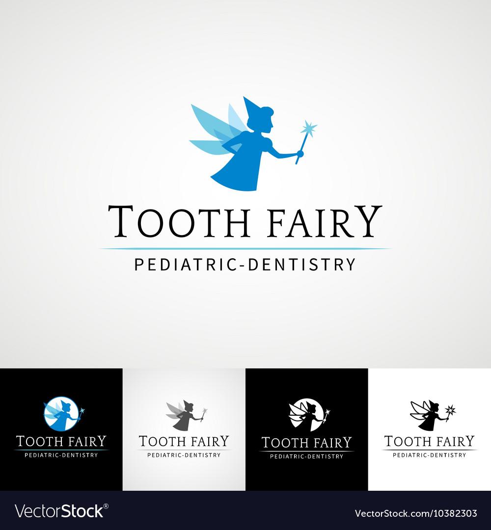 Tooth fairy dental logo template Teethcare icon