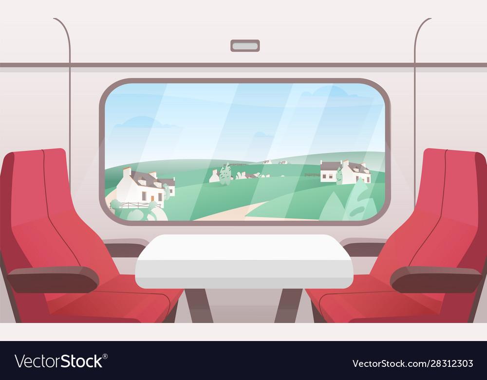 View from train window flat