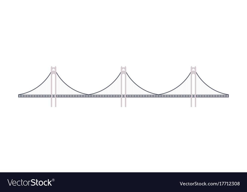 Bridge icon in flat design