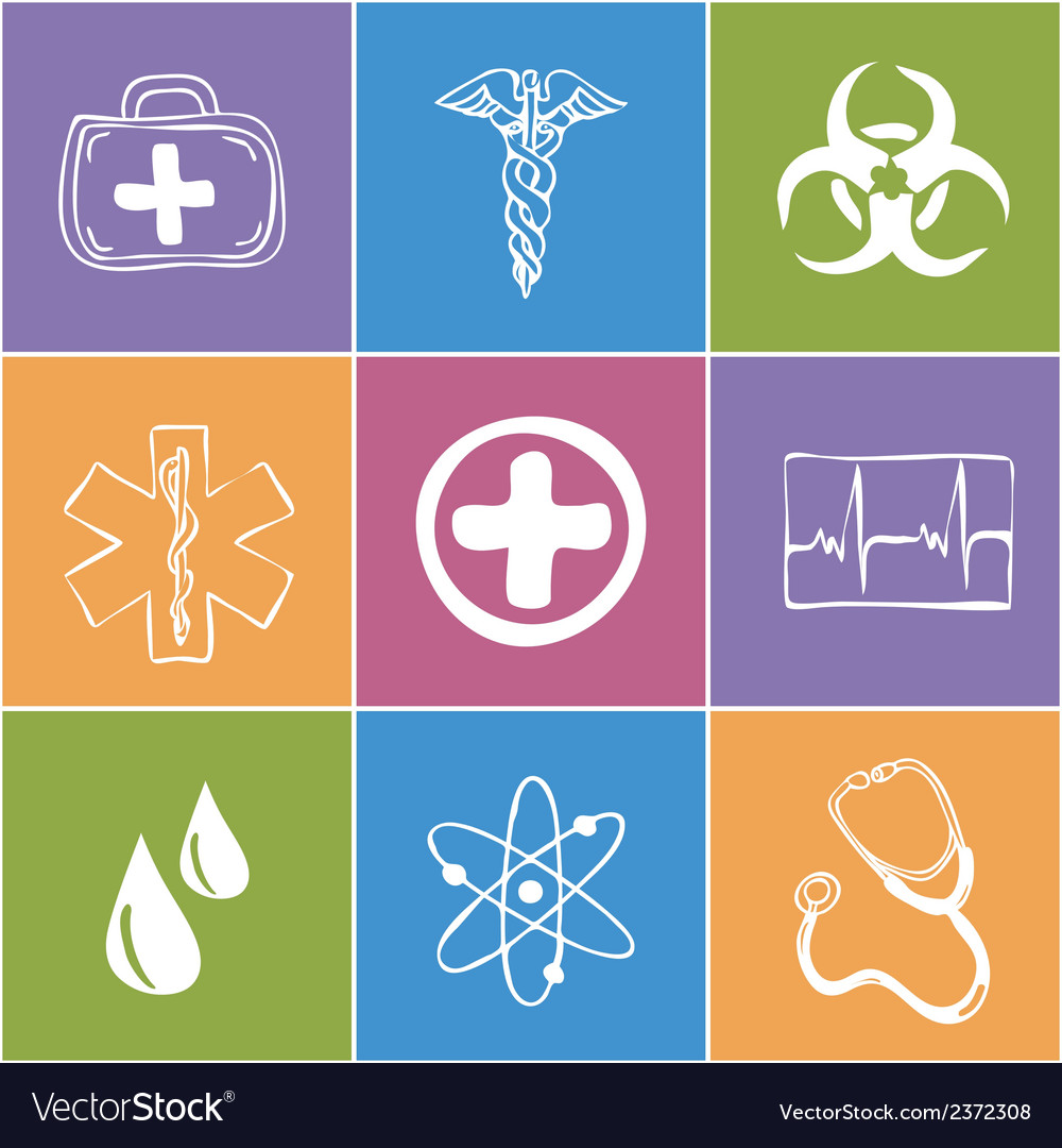 Colored medical icons