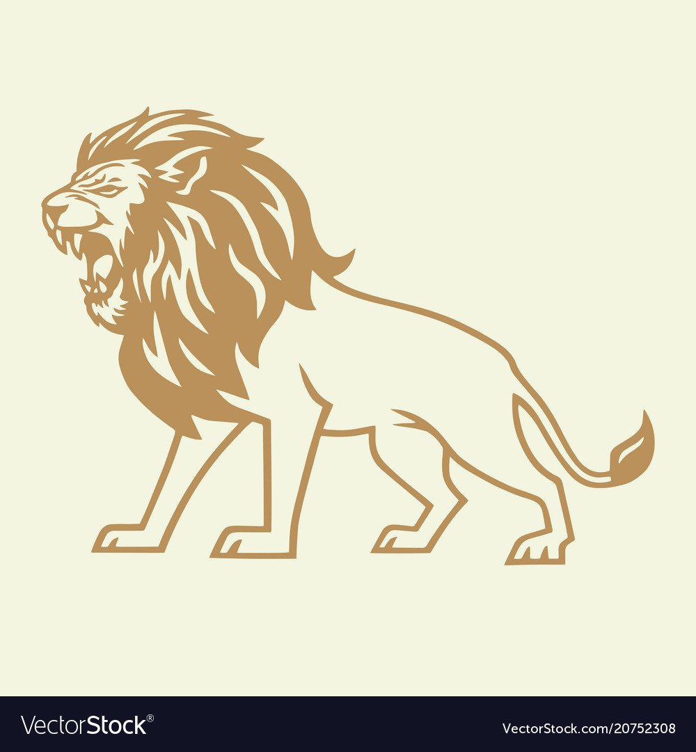 Gold lion logo
