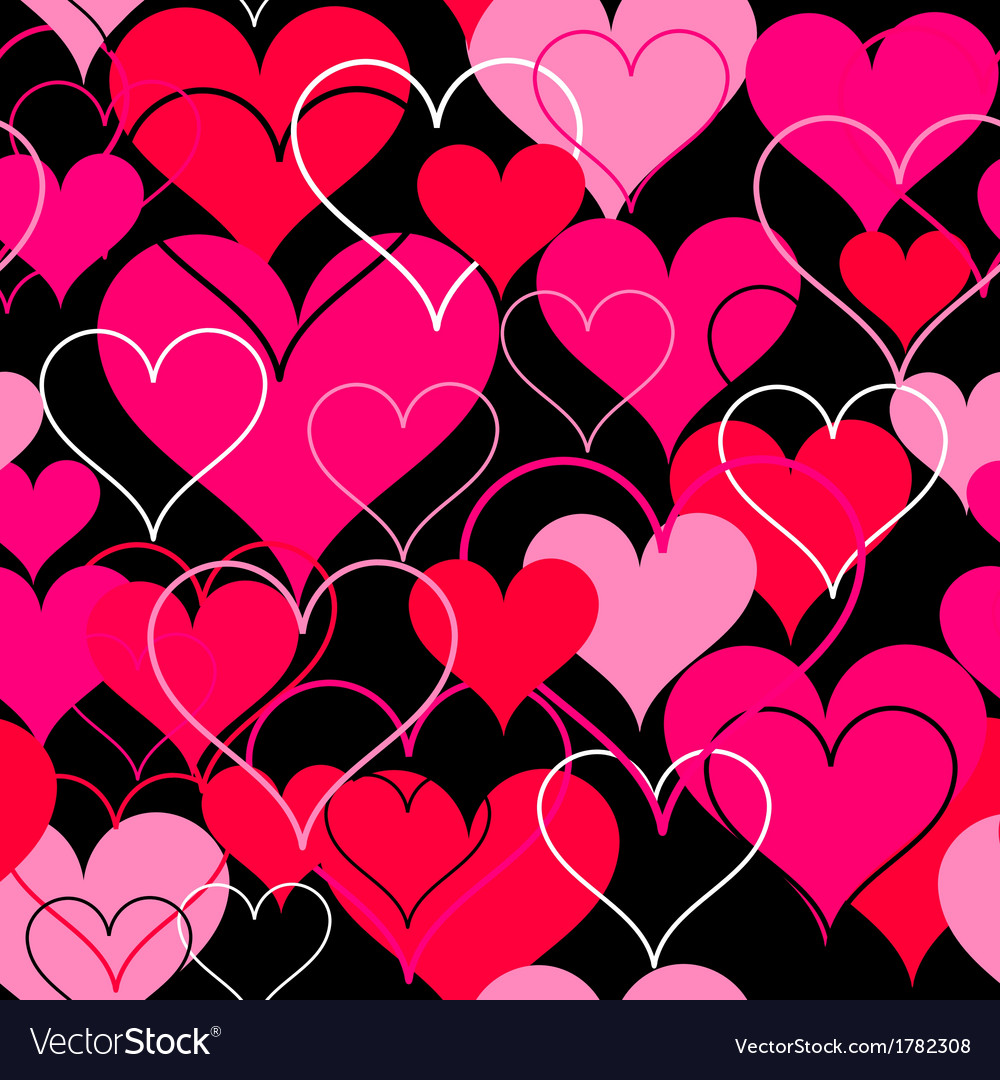 Hearts pink seamless Background