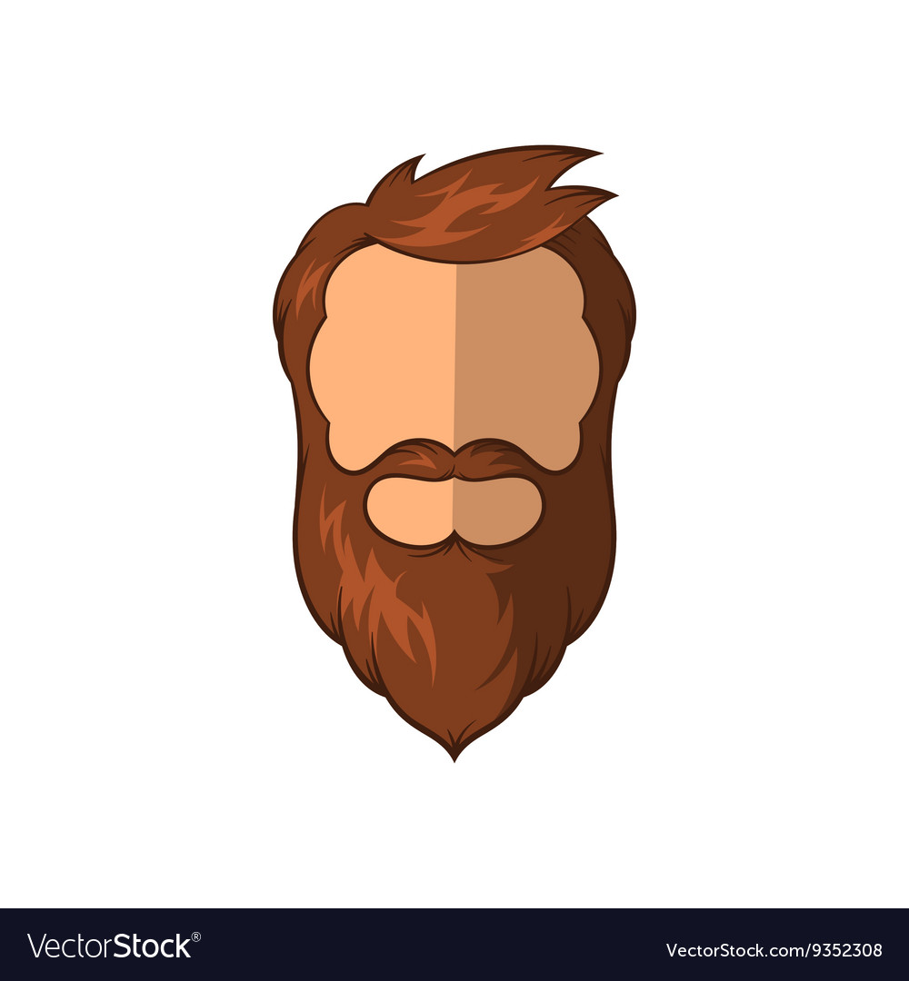 Hipster man icon cartoon style