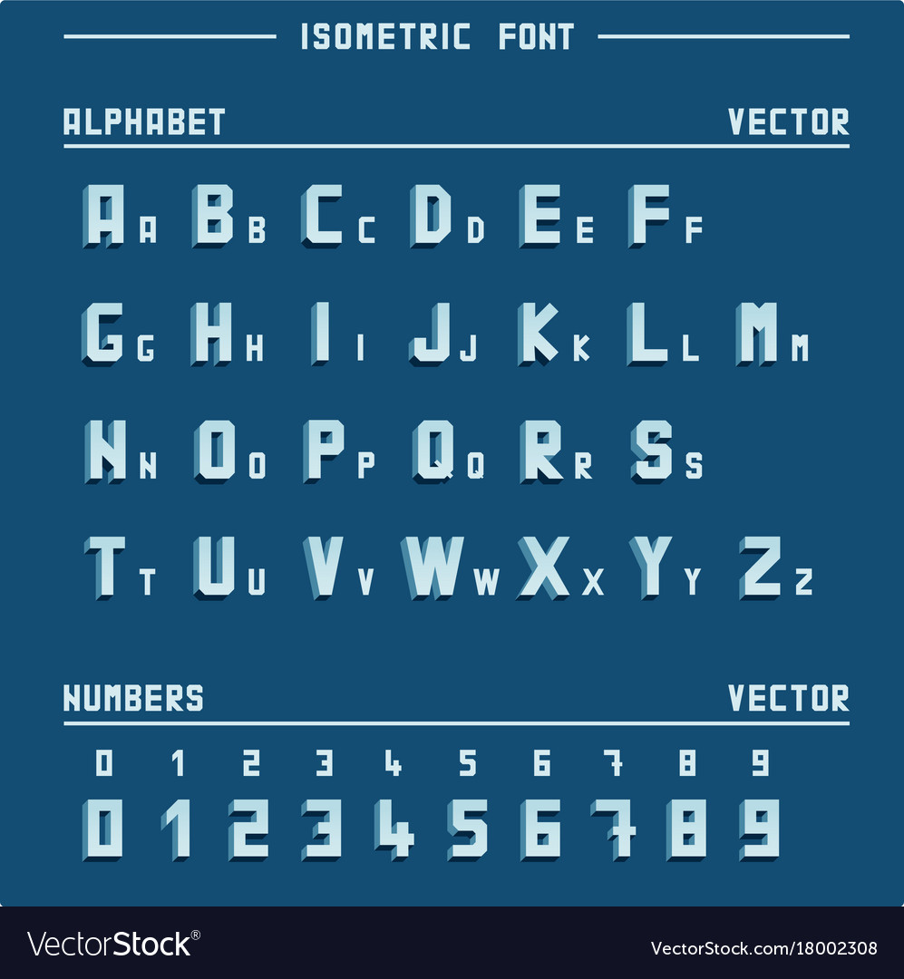 Isometric alphabet and numbers