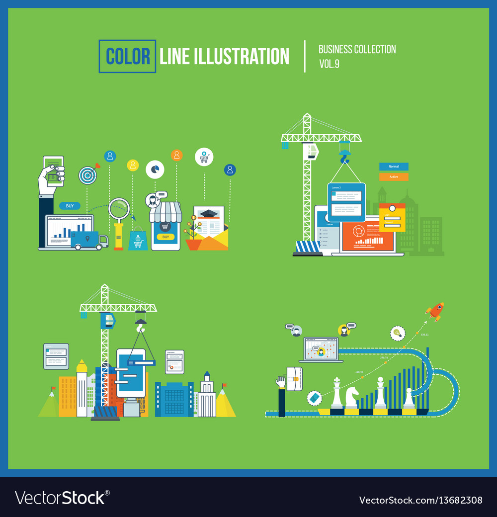 Smart investment marketing planning development vector image