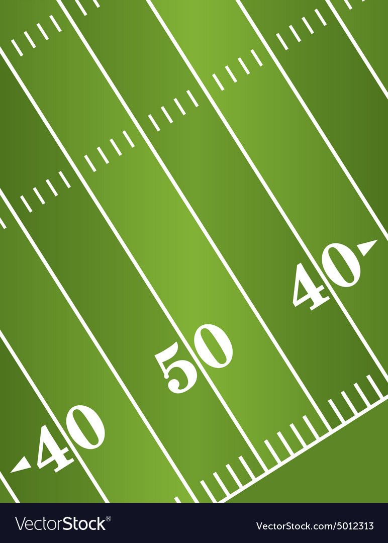 American Football Field Diagonal vector image