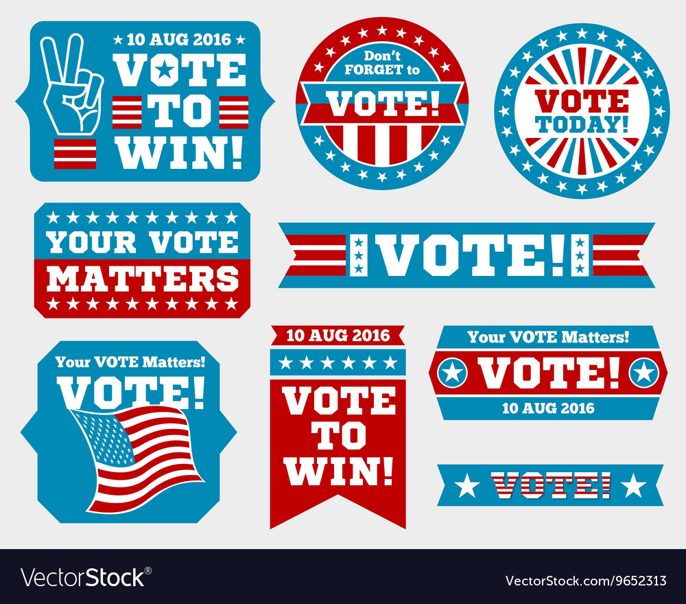 American presidential election 2016 badges and