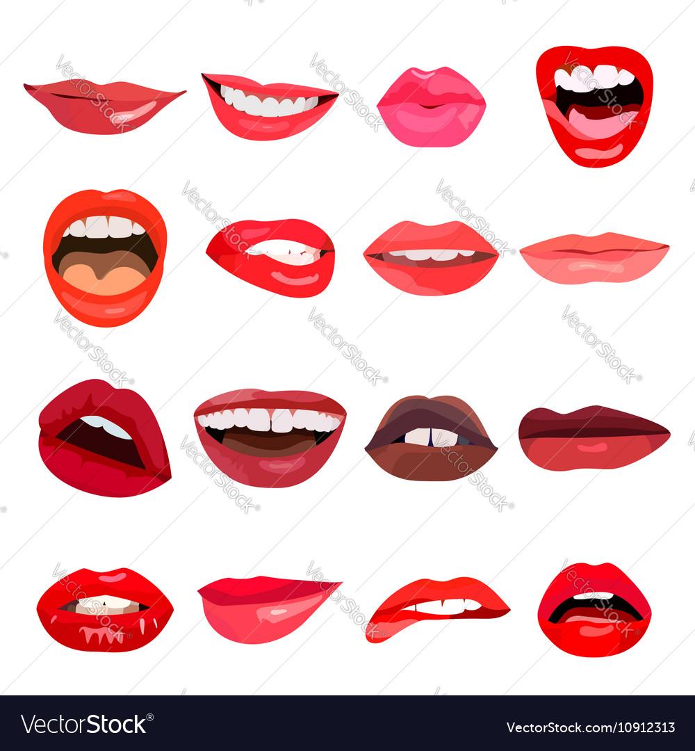 Lips set Lip design element