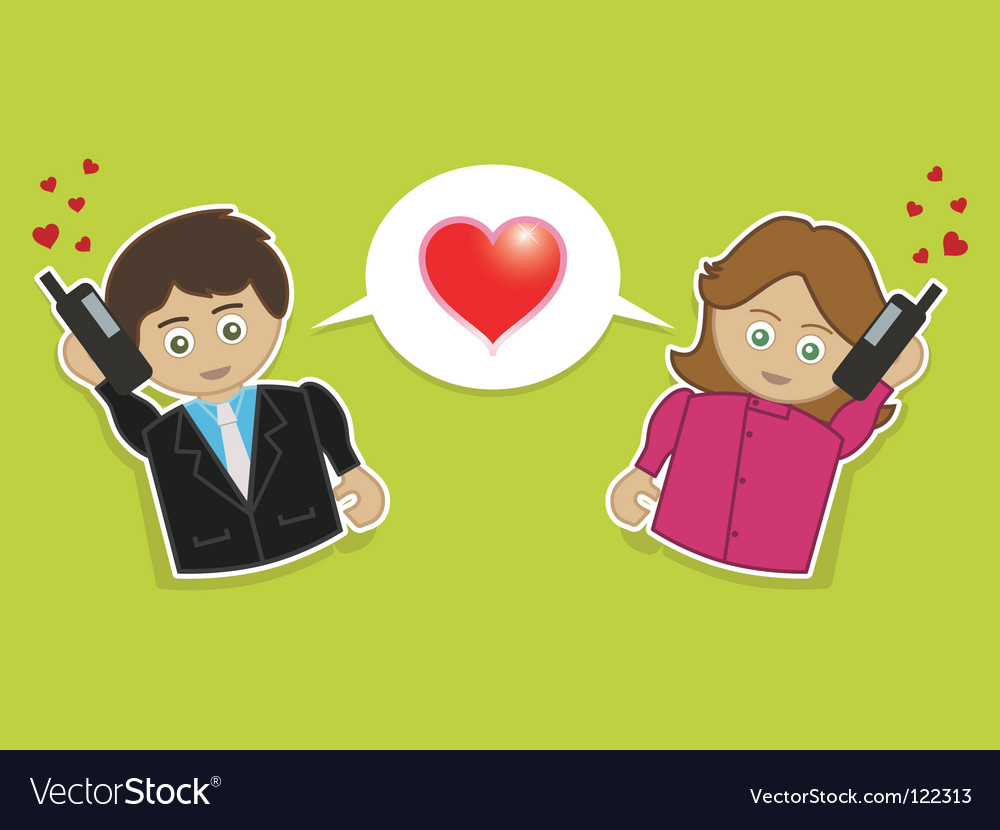 Phone love vector image