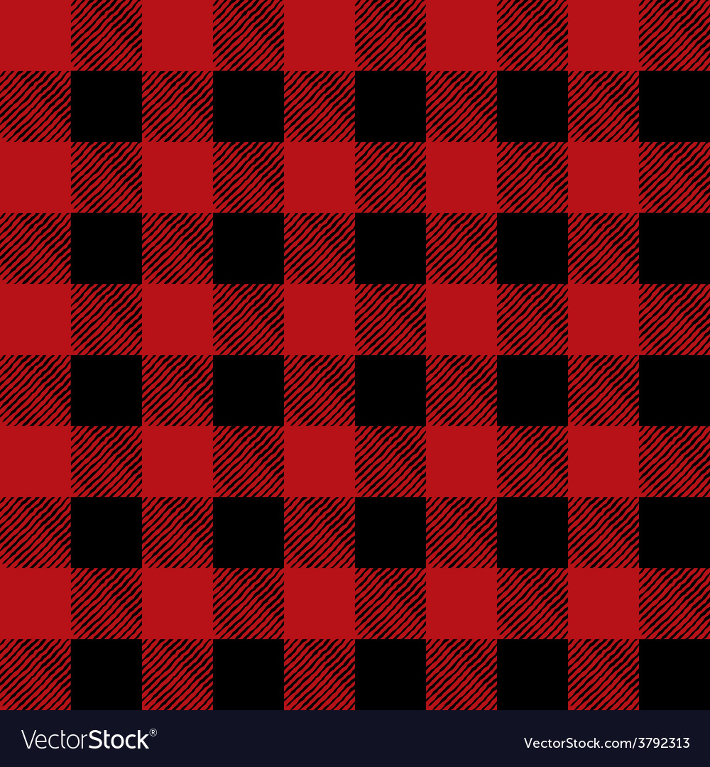 Read and Black Flannel Tile Pattern vector image