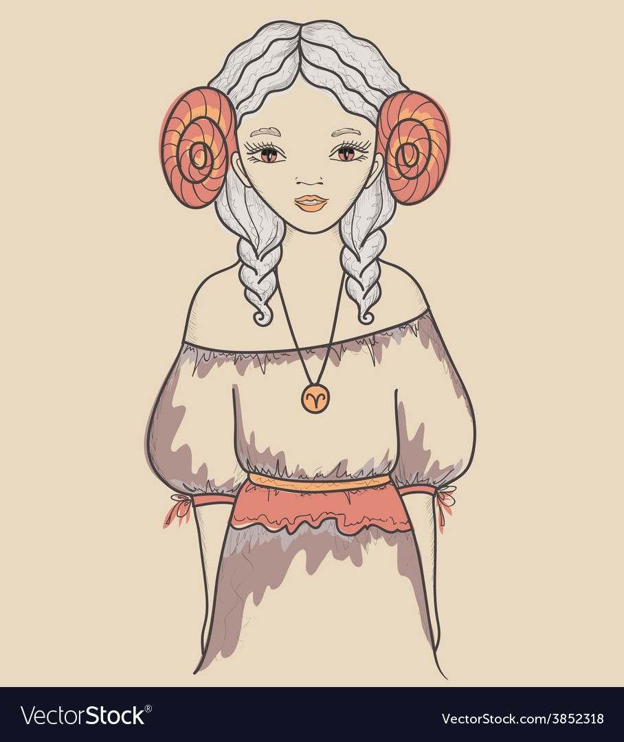 Astrological sign of the zodiac is Aries Girl