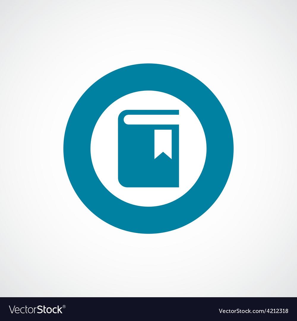 Book icon bold blue circle border