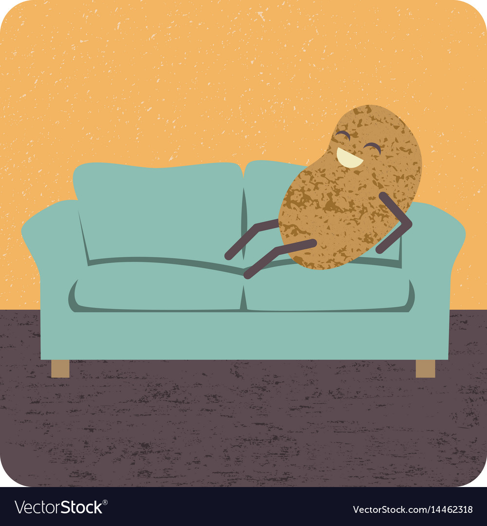 Concept Couch Potato Vector Image