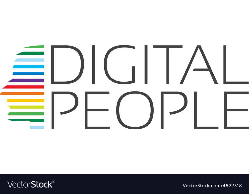 Concept of abstract digital profile vector image