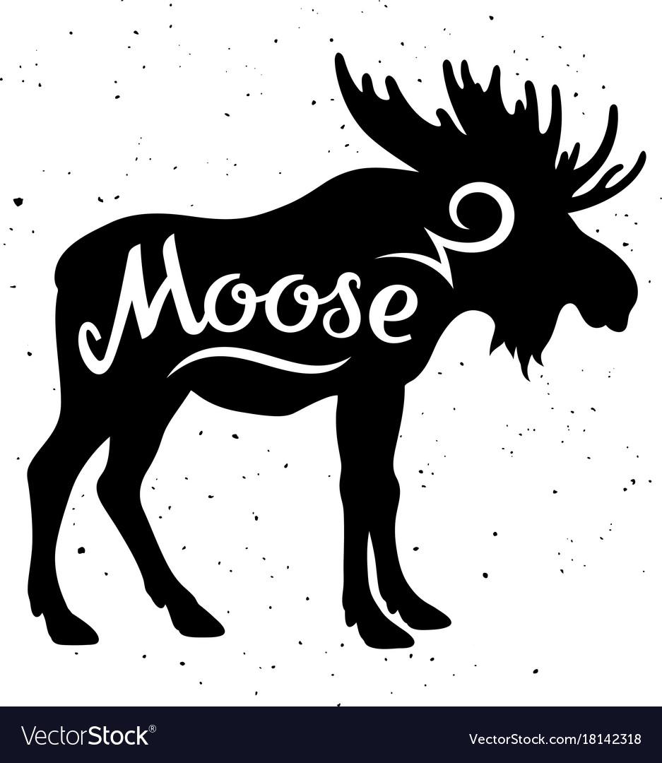 Moose silhouette 002