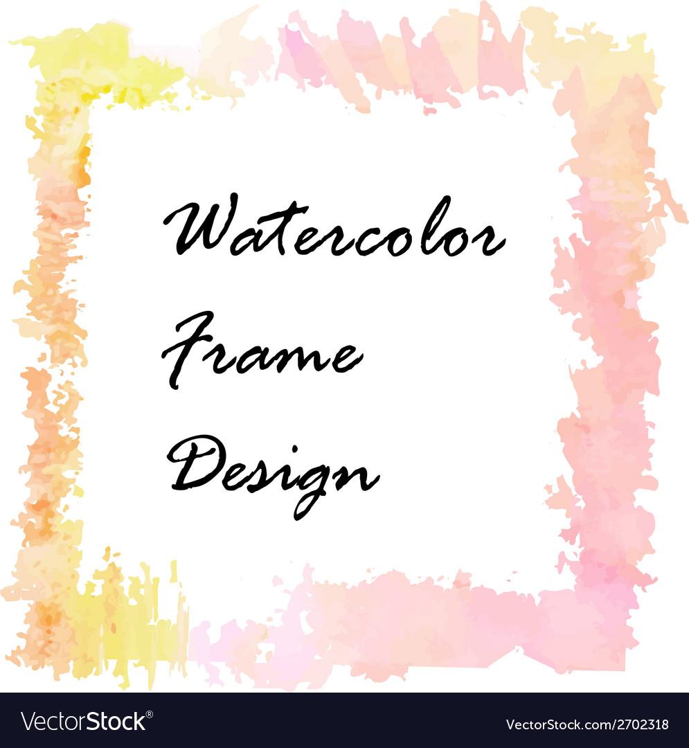 Watercolor frame design