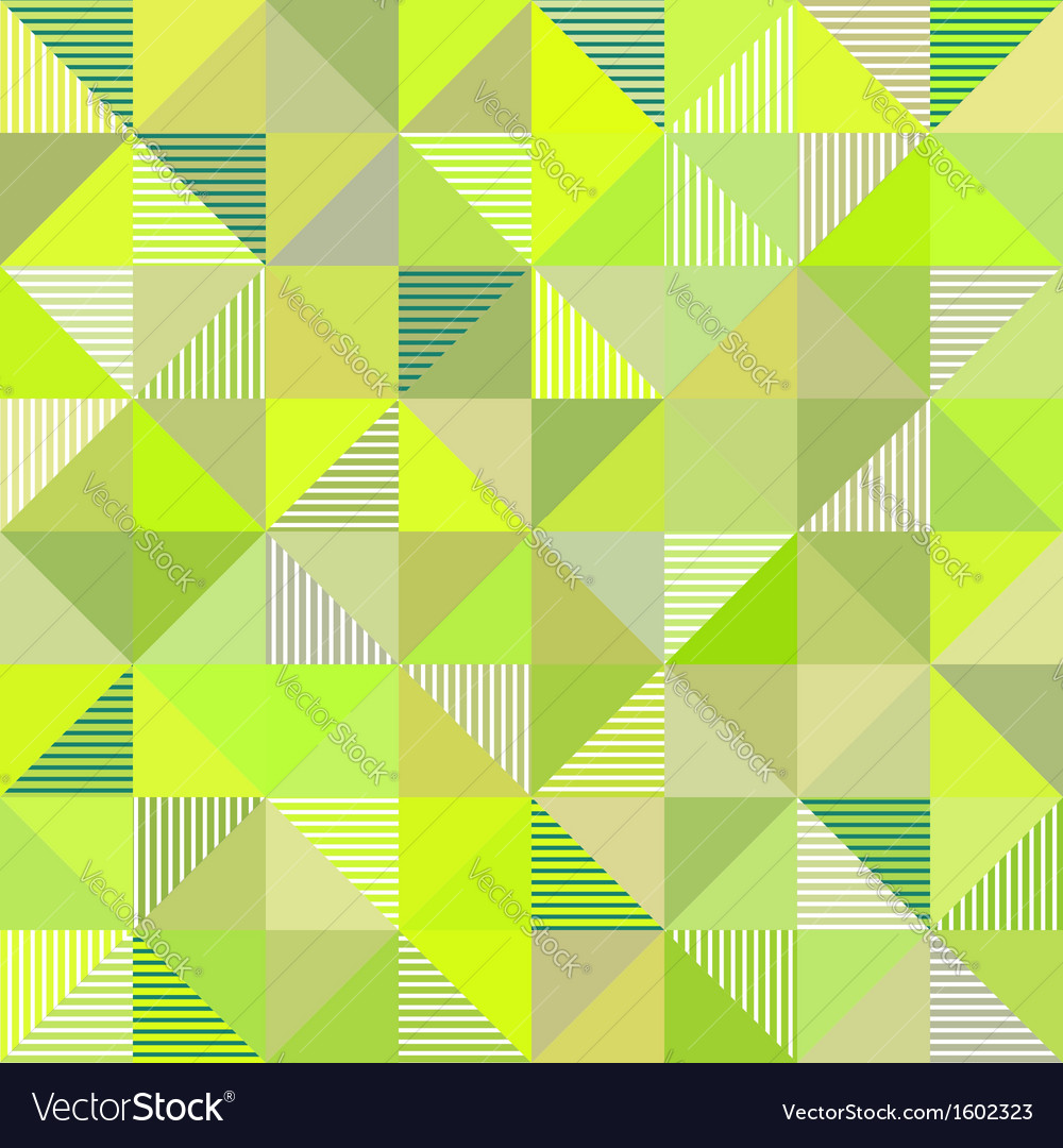 Abstract triangles green background