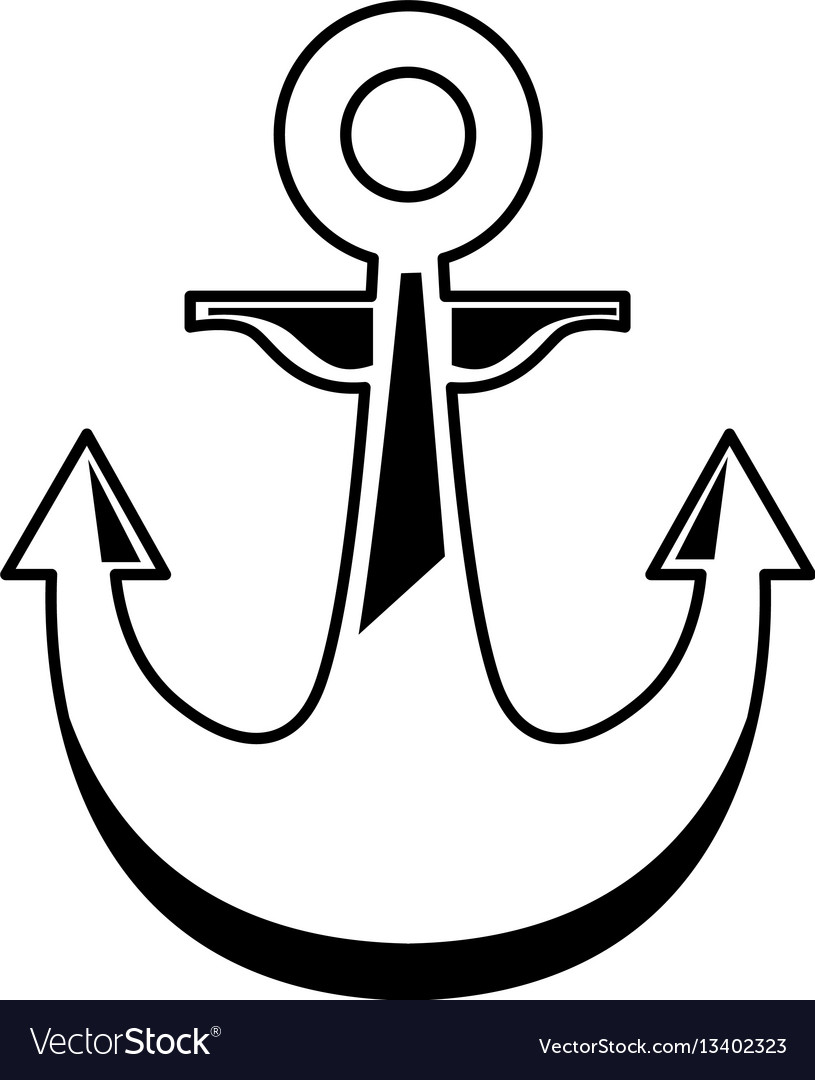 Anchor maritime isolated icon