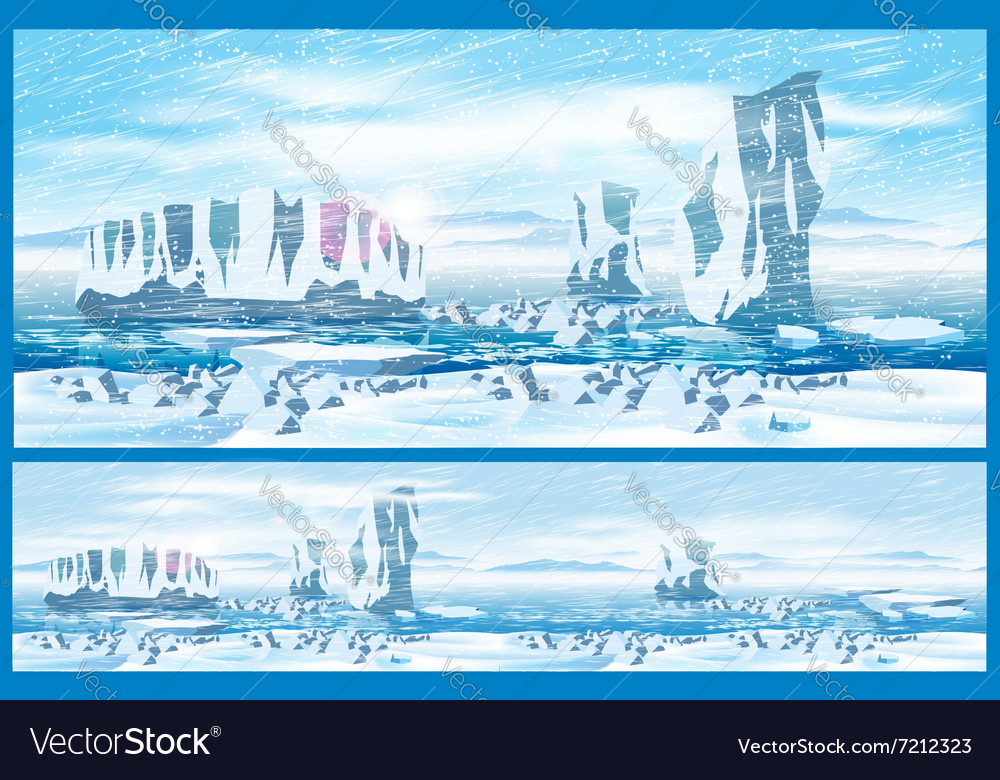 Arctic blizzard vector image