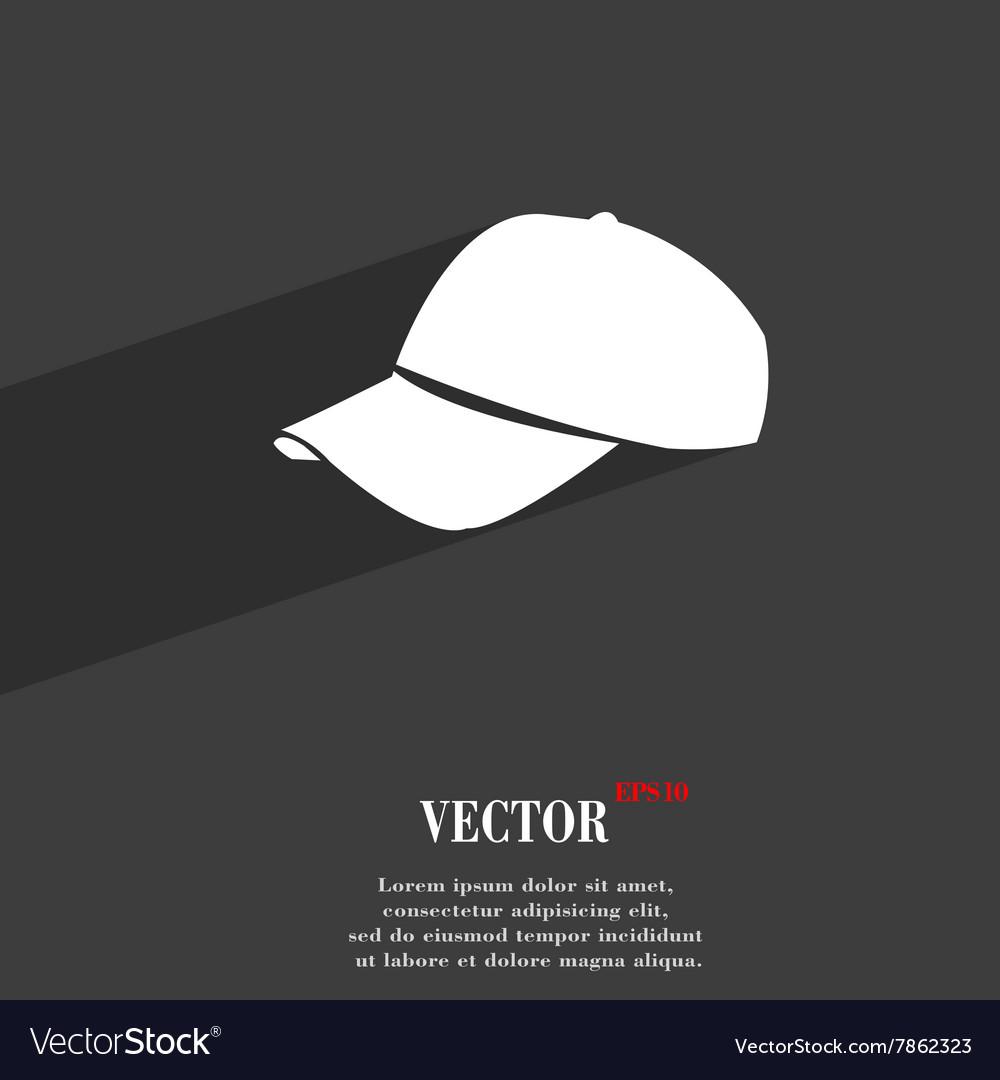 Baseball cap symbol Flat modern web design with vector image