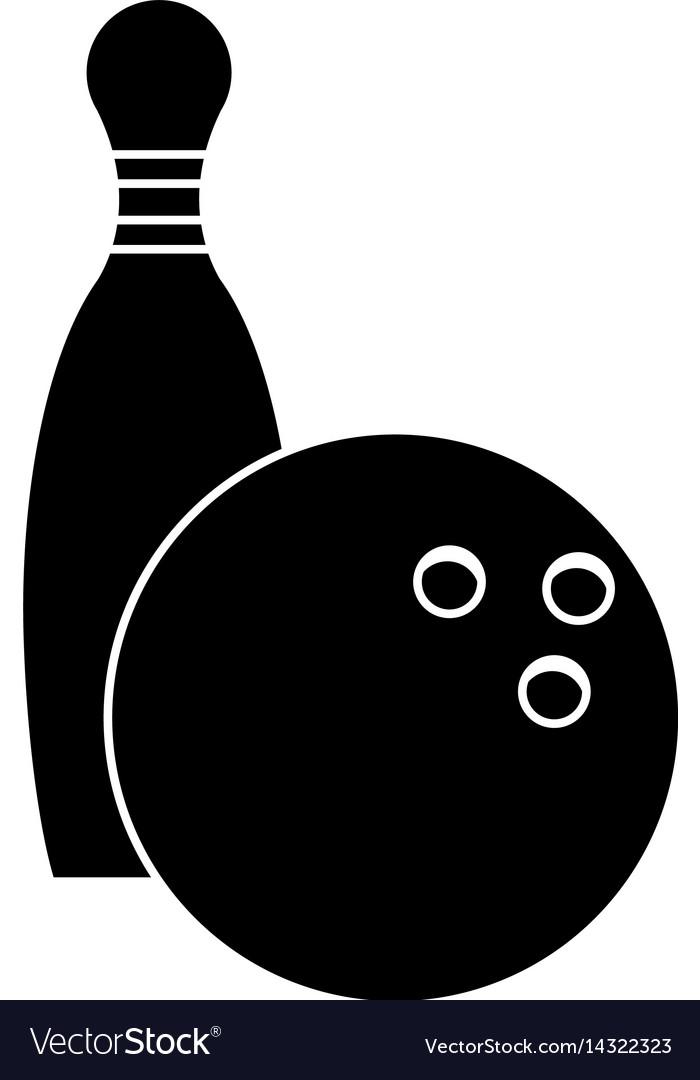 Bowling ball pin sport pictogram