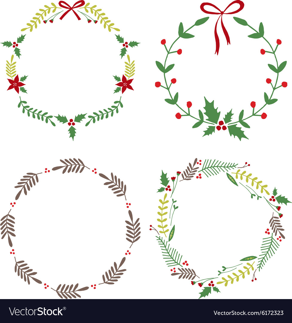 Christmas Circle Borders Wreaths Frames