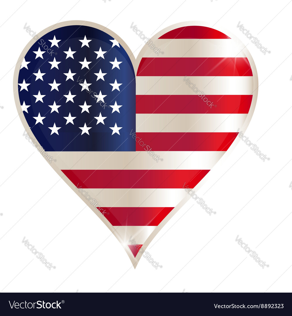 Flag heart american usa america united red concept