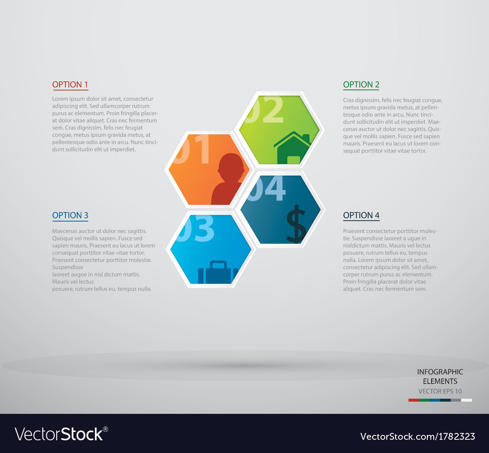 Hexagon infographic