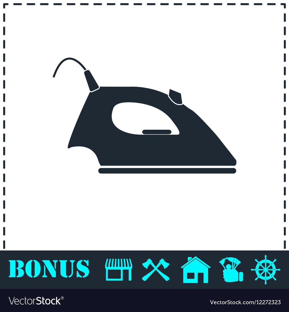 Iron icon flat