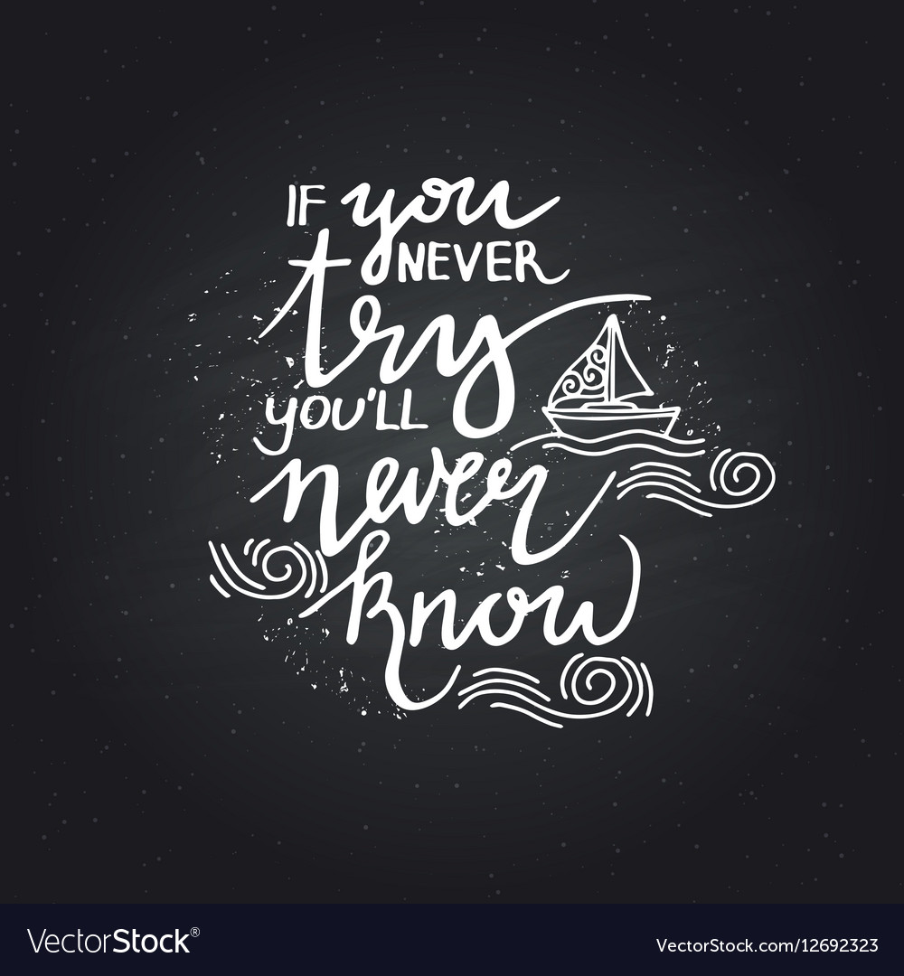 Lettering Positive Quotes Royalty Free Vector Image