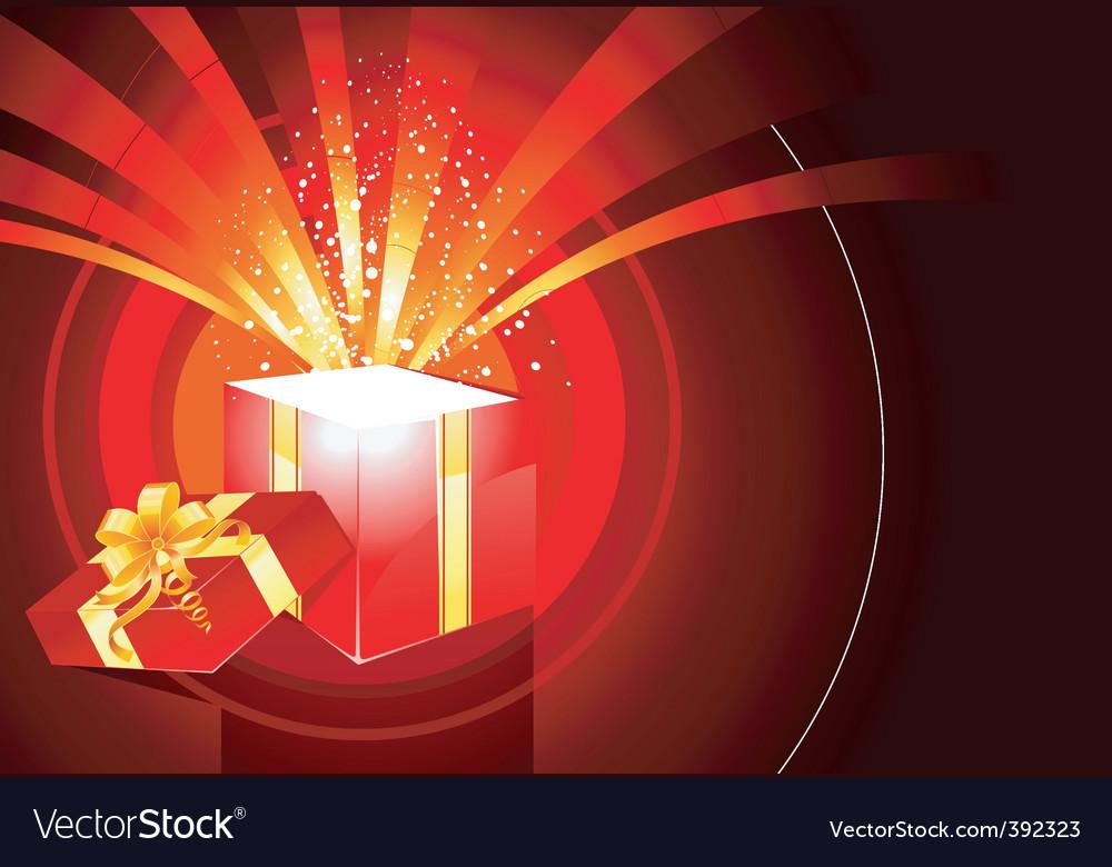 Magic box present vector image
