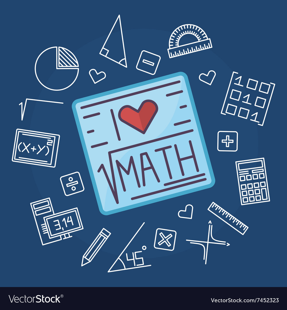 Math education background Royalty Free Vector Image