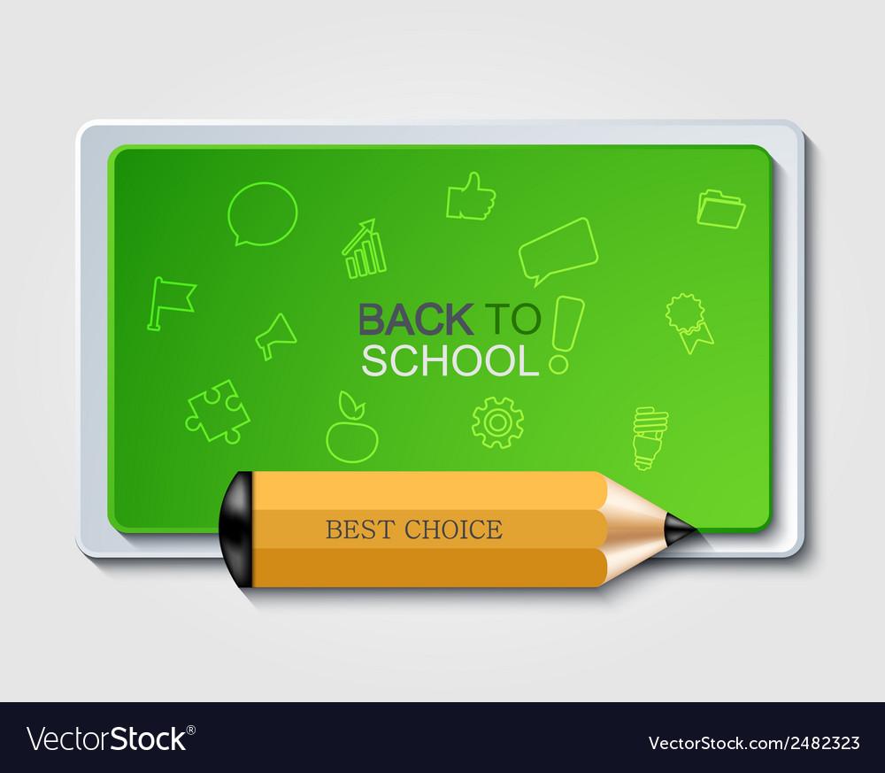 Modern back to school background