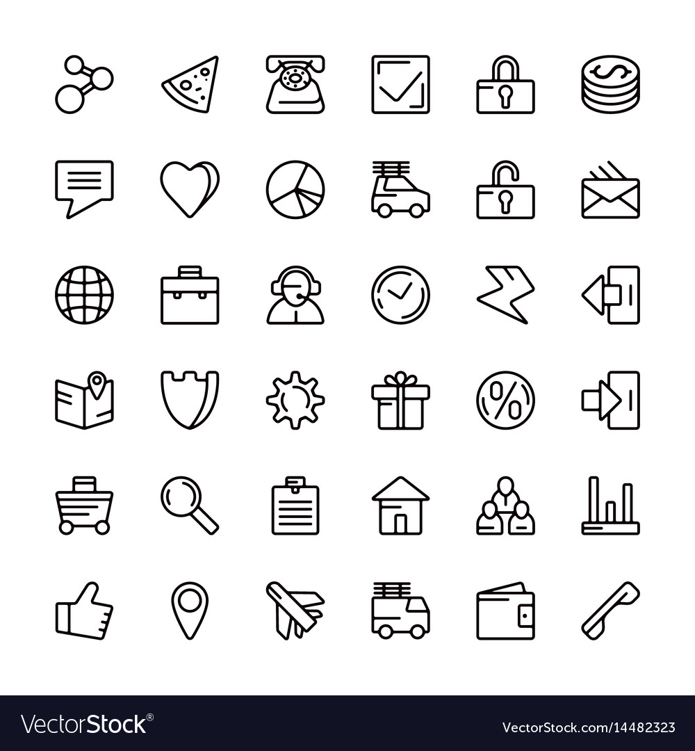 Navigation online store and business icons