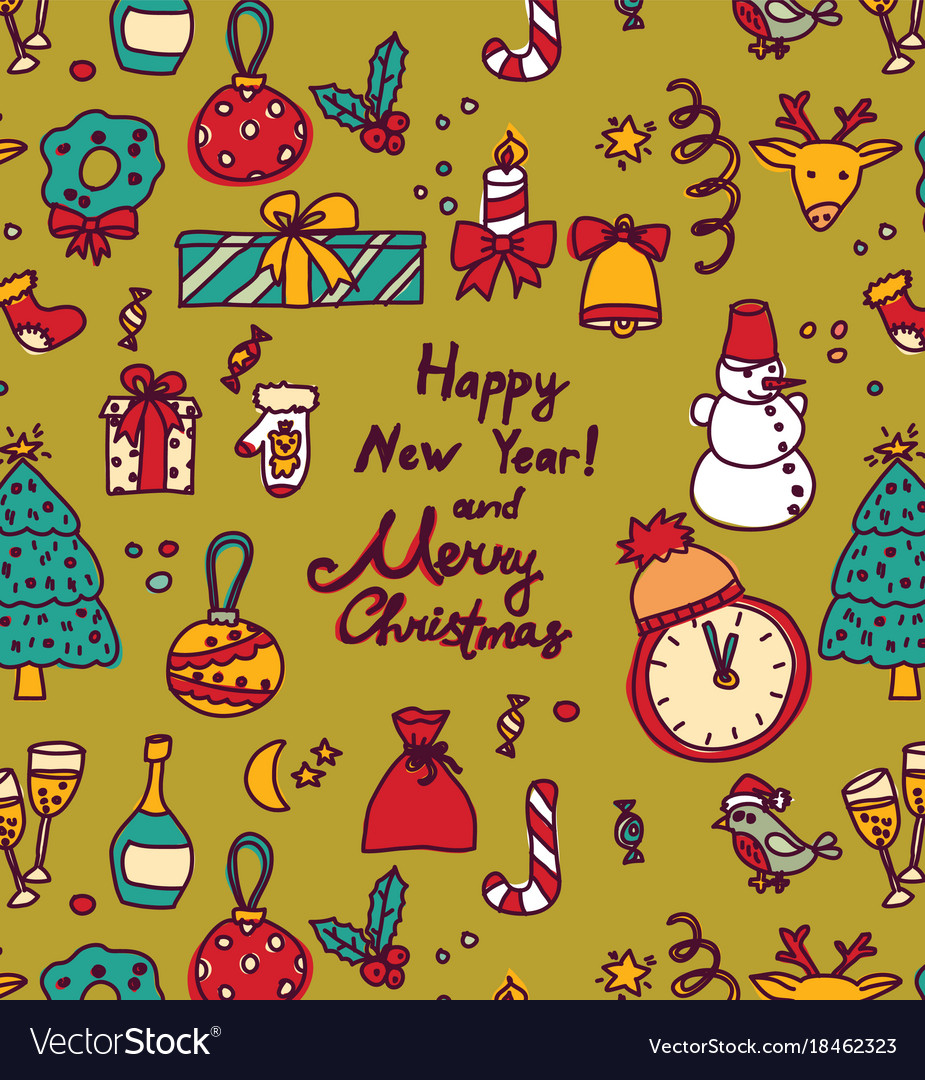 New year christmas greeting cards frame Royalty Free Vector