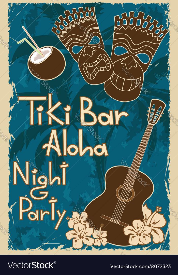 Vintage tiki bar poster