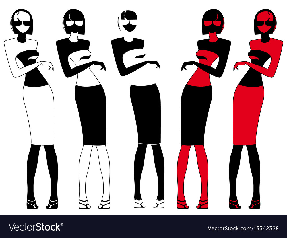 Abstract elegant woman in glasses vector image