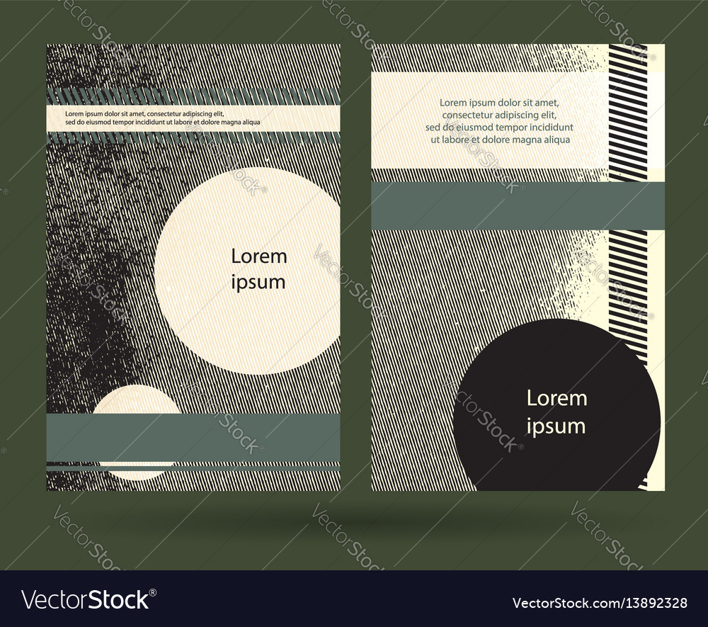 Creative military style leaflet template abstract