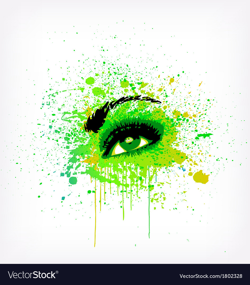 Grunge abstraction green make-up